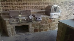 Thr outdoor kitchen almost done