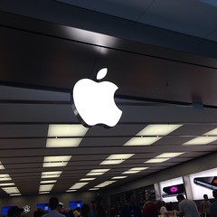 At the Apple Store in Orlando.