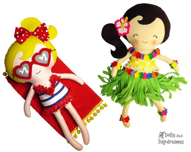 Hula Girl Sewing Pattern Beach Bikini Girl