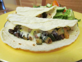 Black Bean, Zucchini, and Olive Tacos