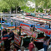 Canal boats at the Little Venice Cavalcade Festival, London, England