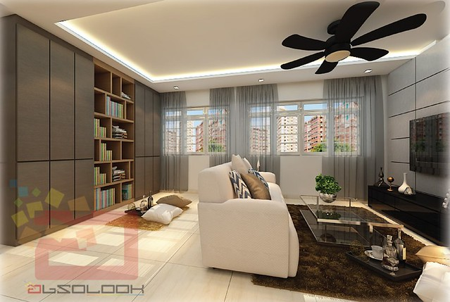 Image Result For Room Hdb Open Concept Kitchena
