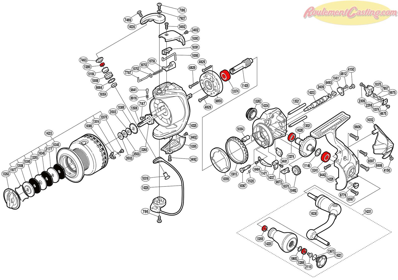 Schéma Shimano 11Stradic CI4 4000F