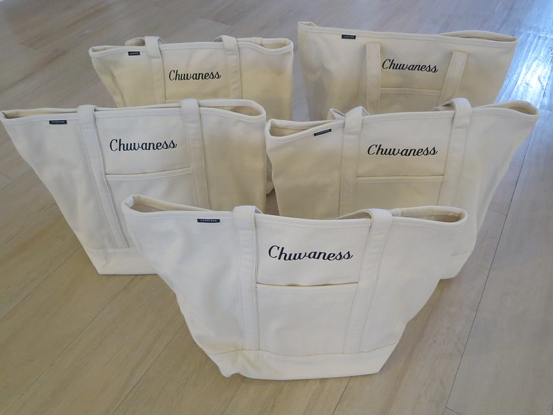 Chuvaness x Land's End totes