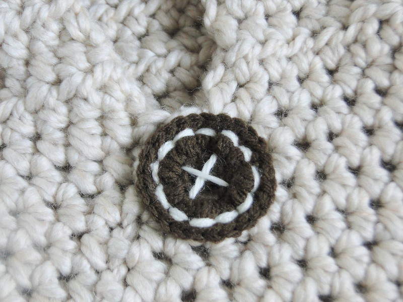 crochet button