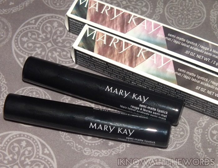 mary kay midnight jewels collection lips - Semi-Matte Lipstick Pink moonstone and Ruby Night  (1)