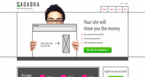 Qadabra.com CMP Ad Network
