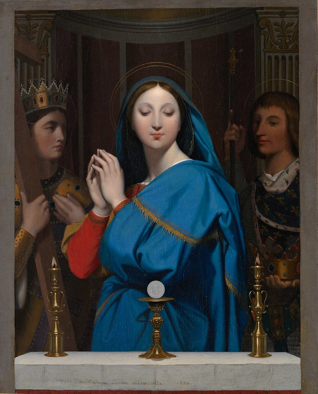 Jean Auguste Dominique Ingres - The Virgin adoring the host (1852)