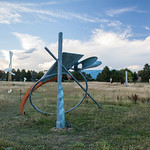 Erick C. Johnson, Navigator, Painted steel and fiberglassed wood, 2014 - Photograph by Wes Magyar