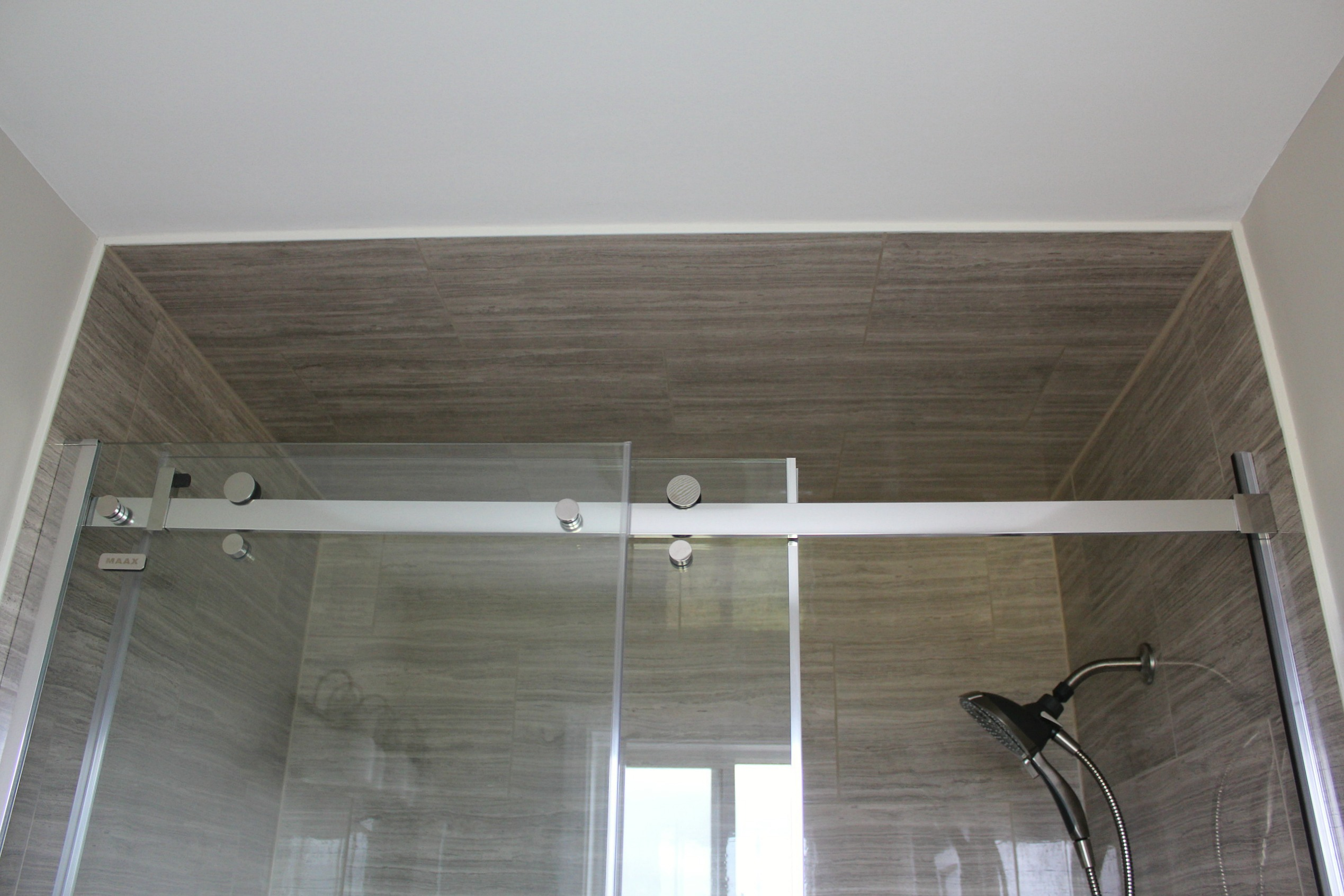 ensuite bathroom renovation tile frameless shower