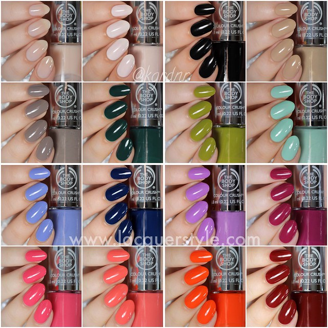 The Body Shop Colour Crush Nails Collection