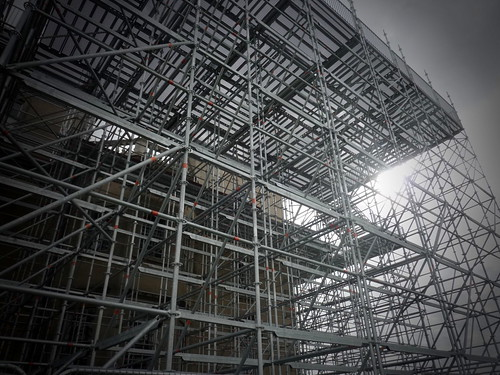 Croome Court - scaffolding