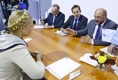 President Schulz in a meeting with Lulia Tymoshenko