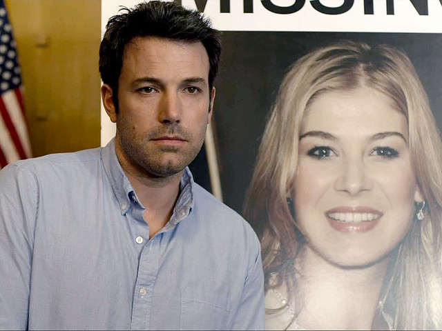 Ben Affleck and Rosamund Pike are twisted marital rivals in GONE GIRL.