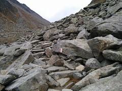 Steinplatten Aufstieg Edelrauthütte