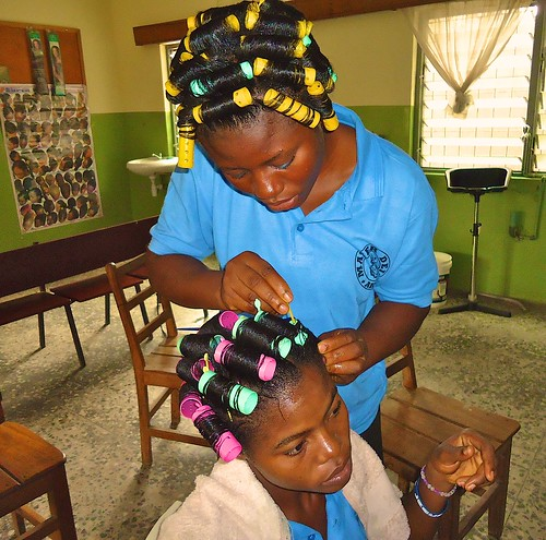 Hairdressing is also taught at the Mater Dei Training College in Akure