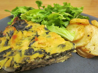 Swiss Chard Pie; Potato Chippers from The Every Day Vegan