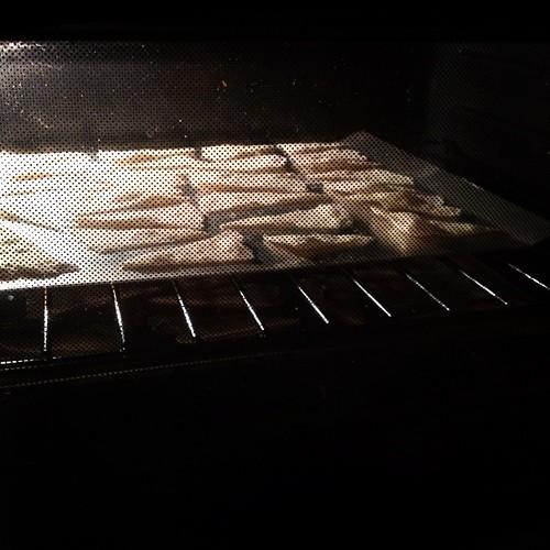 Homemade flour tortilla chips #fambly #littlebitlatergram