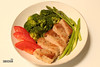 Pan Fried Tuna with Boiled Veggies