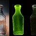Solarized Glass Fluorescence:  Medicine Bottle