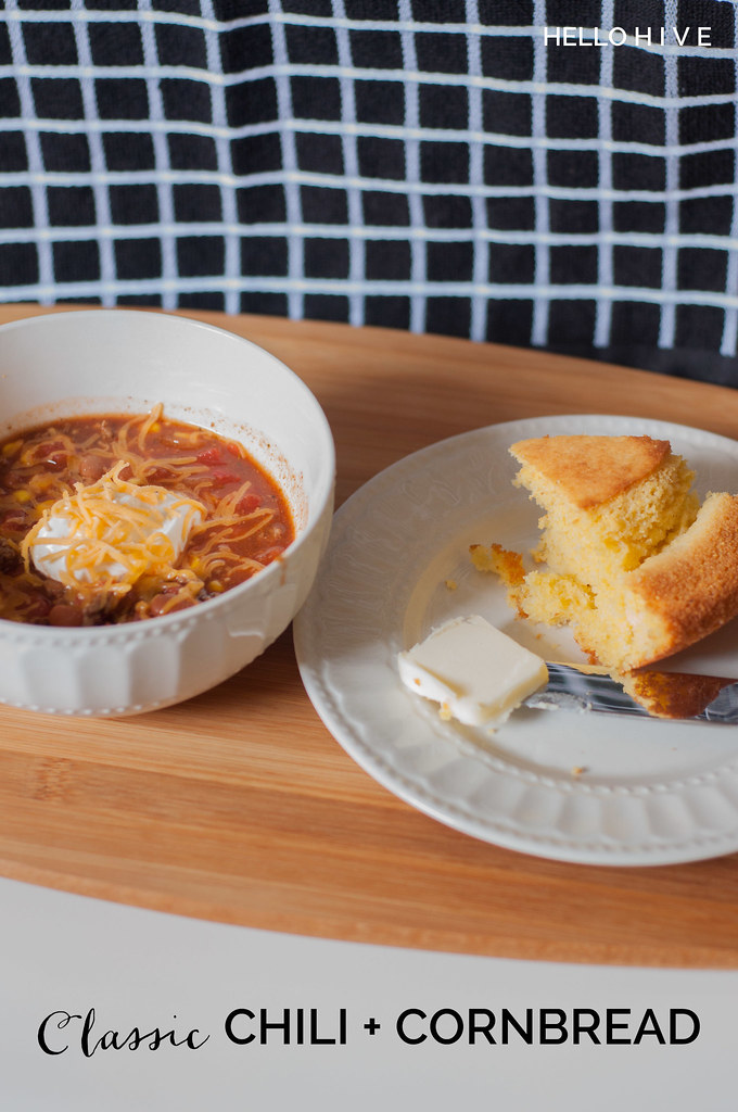 Classic Chili and Cornbread | Hello Hive