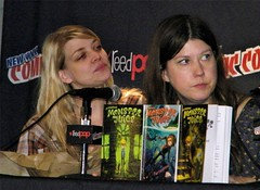 Amber Benson and Maureen Johnson