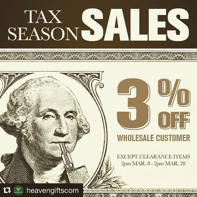 #Repost @heavengiftscom with @repostapp ・・・ Big #vapeshouts to all wholesalers! Join our wholesale program and enjoy extra 3% off for #TAXSEASON! Only at www.heavengifts.com #vapewholesale #vape #vaping #heavengifts #vapebusiness #vapeon #vapes #vapear #v