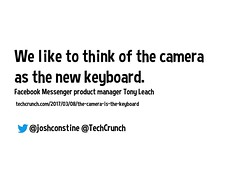 We like to think of the camera as the new keyboard