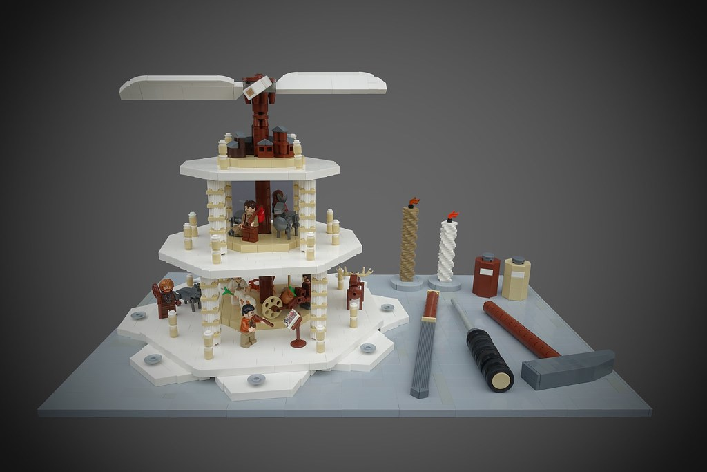 9 Kindoms Challenge: Medieval Pyramid (custom built Lego model)