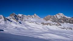 Granta Parei 3380m, Beca della Traversiere  3338m, przełęcz Colle Basac Dee 3200m, Grande Traversiere 3496m