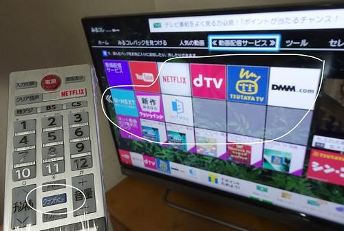 レグザの対応動画サービス