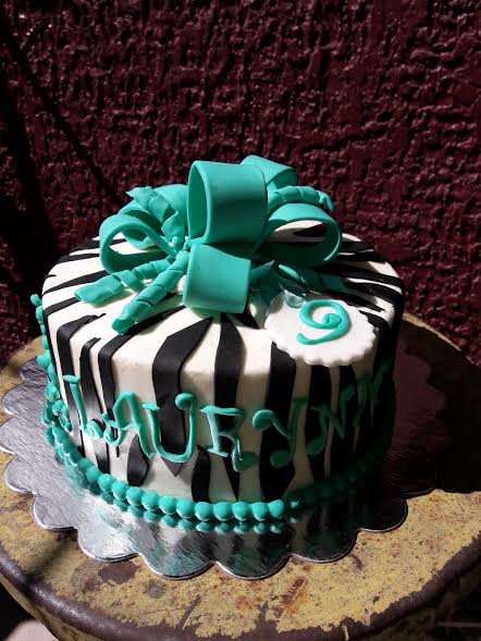 Turquoise Tiffany Cake by Cheermom1621 of L & M Cakes
