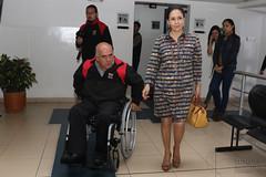 04/24/2017 - 13:09 - Quito, 24 de abril de 2017 (Andes).- Rocío González esposa del presidente electo Lenín Moeno, participó en una reunión con representantes de Nicaragua y El Salvador  para tratar sobre programas para discapacitados. ANDES/Micaela Ayala V.