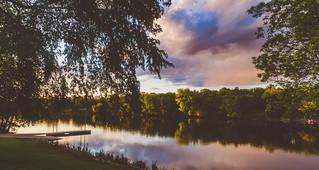 Ellison Park Spring Sunset on the Mississippi River, Monticello, Minnesota