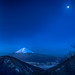 Fuji at moonlit night by shinichiro*