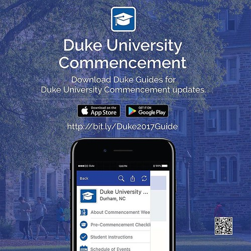 Commencement is one week from today! Download Duke Guides in the app store for updates leading up to the ceremony.
