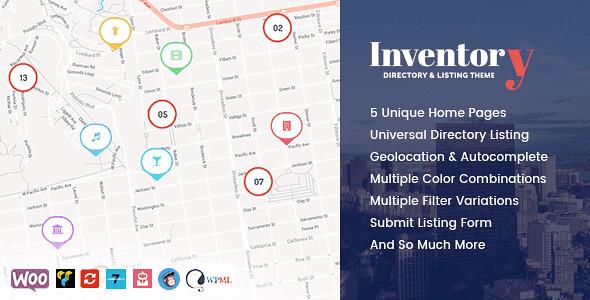 Inventory WordPress Theme free download