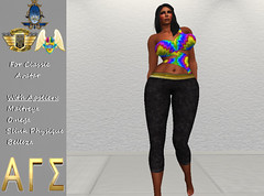 AGS INC. Womens Colorful with Appliers