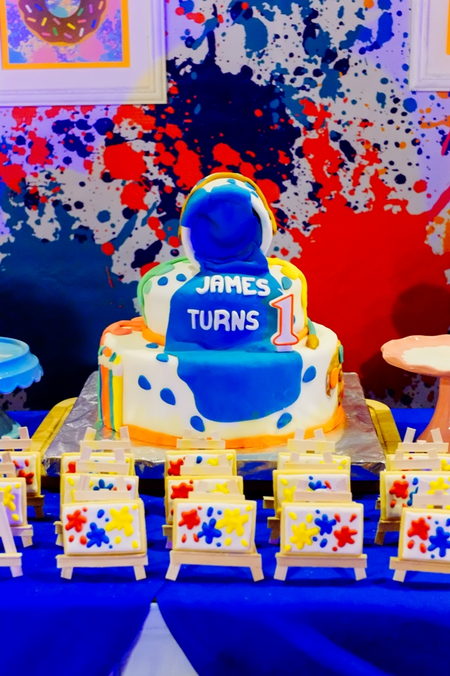 James  Art Attack / Painting Themed Party   1st Birthday ...