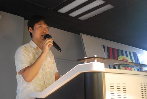 張時原(韓國Uljin 縣議會議員);攝影:彭瑞祥。