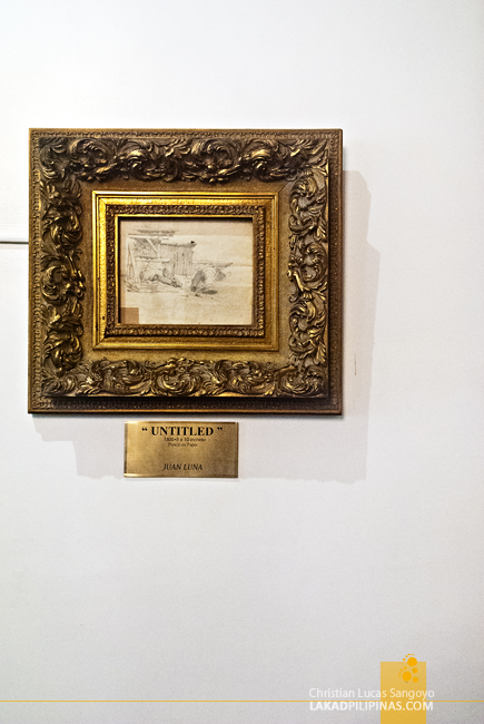 Juan Luna Sketch at Hotel Luna in Vigan