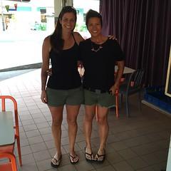 We didn't plan it, I swear. @alonicahusac #besties #twins