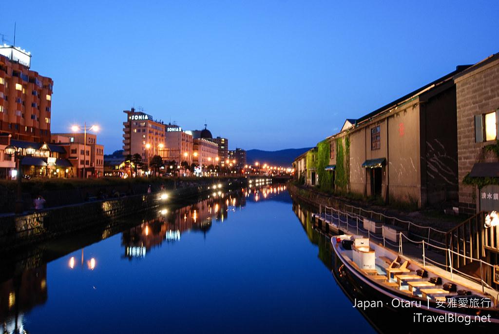 《小樽景点推荐》北海道小樽散策游:北一硝子馆、小樽运河。