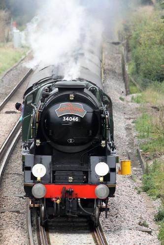 """34046 """"Braunton"""" at Wye, Kent"""