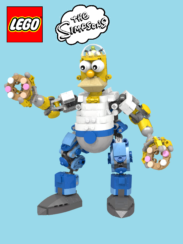 Moc Exo Homer Challenge Entry Lego Licensed Eurobricks Forums