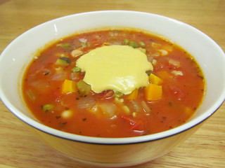 Minestrone; Simple Cheezy Sauce