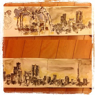 #japon #urbansketch #tokio #roppongi #carbon #platinum #watercolor