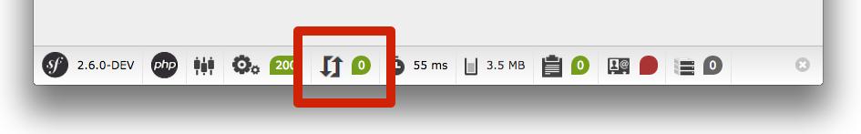 Symfony 2.6 toolbar