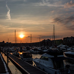 Sunset over the Marina