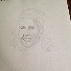 Start of a sketch this morning. A girl named June from 1949.